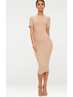 PrettyLittleThing cap sleeve midi dress