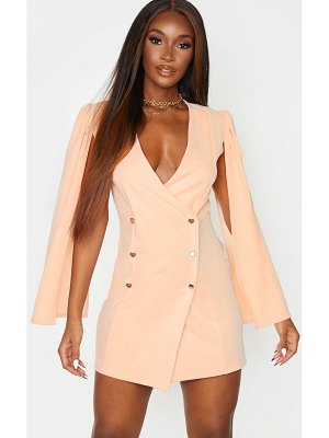 PrettyLittleThing cape button detail blazer dress