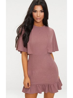 PrettyLittleThing cape detail frill hem bodycon dress