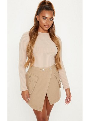 PrettyLittleThing cargo pocket denim skirt