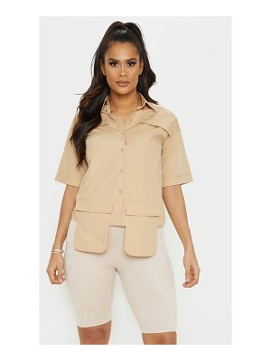 PrettyLittleThing cargo pocket short sleeve shirt