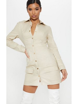 PrettyLittleThing cargo utility shirt dress