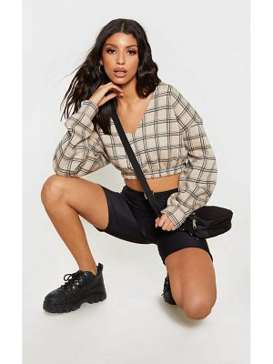 PrettyLittleThing check off shoulder crop sweater