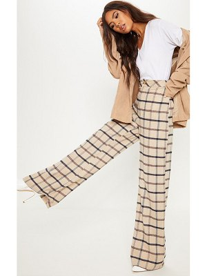 PrettyLittleThing check wide leg pants