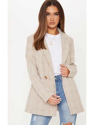 PrettyLittleThing checked woven blazer