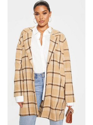 PrettyLittleThing checked oversized coat