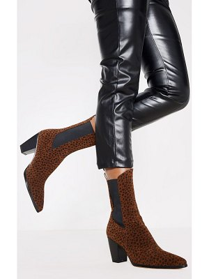 PrettyLittleThing chelsea western high ankle boot