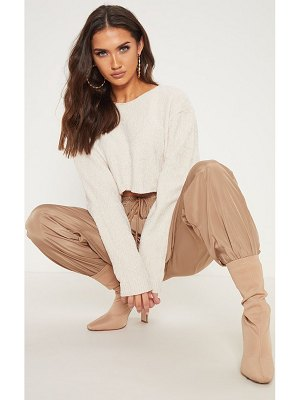 PrettyLittleThing chenille cropped knitted sweater