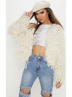 PrettyLittleThing chenille shaggy knitted cardigan