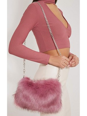 PrettyLittleThing christah faux fur chain shoulder bag