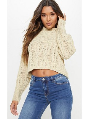 PrettyLittleThing chunky knitted cable jumper