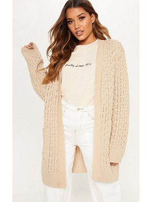 PrettyLittleThing chunky knitted midi cardigan