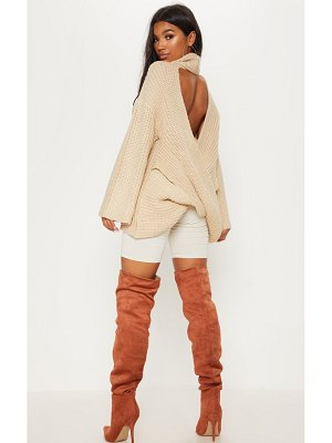 PrettyLittleThing chunky open knitted sweater
