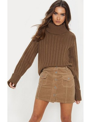 PrettyLittleThing chunky ribbed high neck sweater