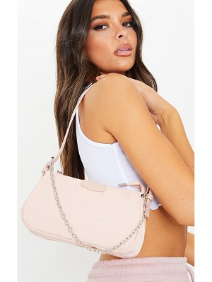 PrettyLittleThing clay nylon silver chain shoulder bag
