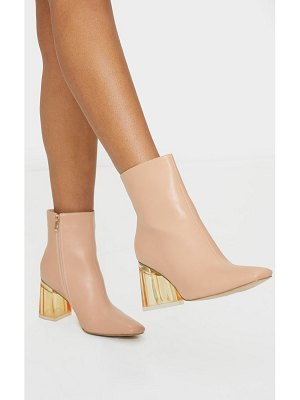 PrettyLittleThing clear block heel ankle boot