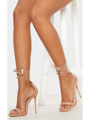 PrettyLittleThing clear cuff square toe high sandal