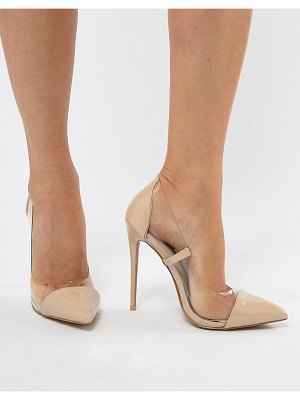 PrettyLittleThing clear pointed heeled pumps