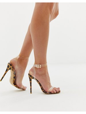 PrettyLittleThing clear strap barely there heeled sandal