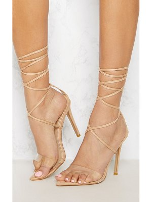 PrettyLittleThing clear strap point toe barely there sandal
