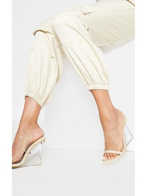 PrettyLittleThing clear wedge mule sandal