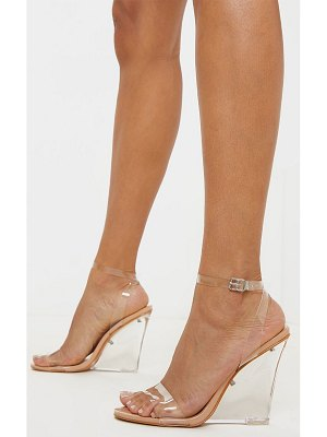 PrettyLittleThing clear wedge strappy sandal