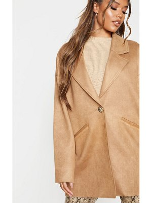 PrettyLittleThing cocoon faux suede coat