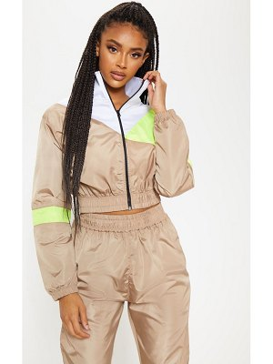 PrettyLittleThing color block tracksuit jacket