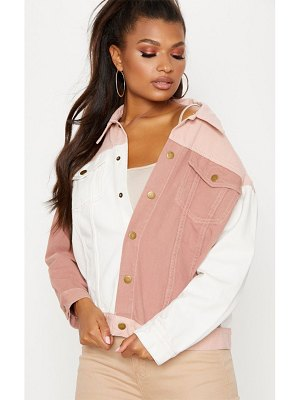 PrettyLittleThing colour block denim jacket