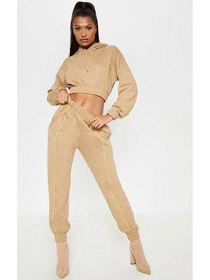 PrettyLittleThing contrast binding sweat jogger