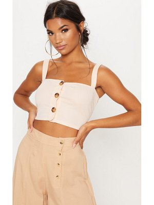 PrettyLittleThing contrast button crop top