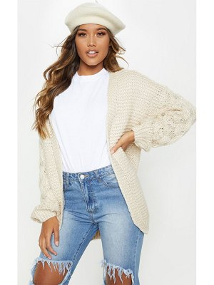 PrettyLittleThing contrast knit cardigan
