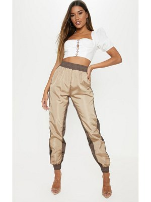 PrettyLittleThing contrast panel shell jogger