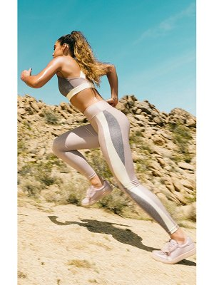 PrettyLittleThing contrast panelled sports leggings