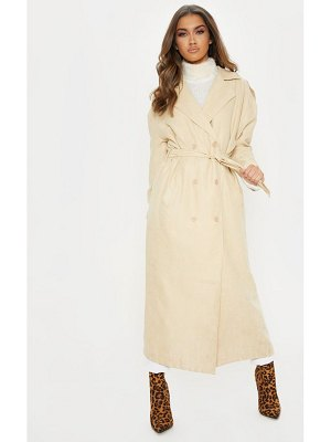 PrettyLittleThing cord belted trench