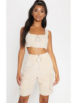 PrettyLittleThing cord boyfriend fit shorts