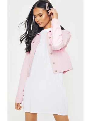 PrettyLittleThing cord cropped denim jacket