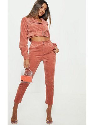 PrettyLittleThing cord high waisted straight leg pants