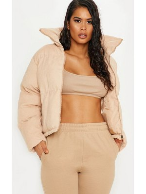 PrettyLittleThing cord oversized puffer