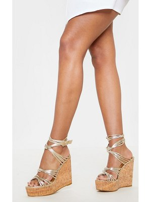 PrettyLittleThing cork knot wedge sandal