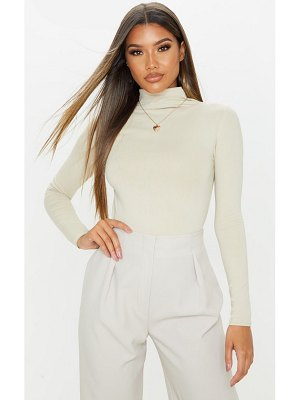 PrettyLittleThing cotton funnel neck long sleeve top