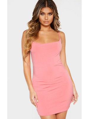 PrettyLittleThing cowl neck strappy bodycon dress