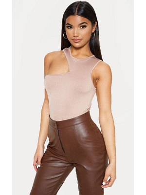 PrettyLittleThing crepe cut out sleeveless bodysuit
