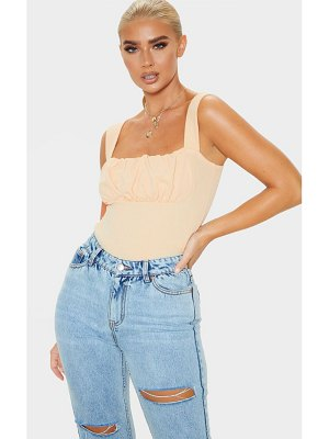 PrettyLittleThing crepe ruched detail top