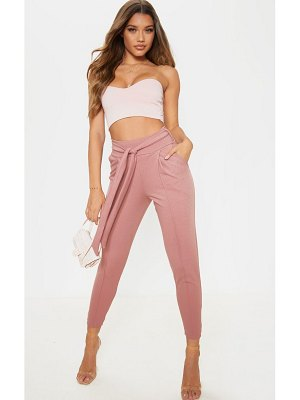 PrettyLittleThing crepe super high waisted skinny pants