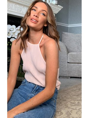 PrettyLittleThing crinkle chiffon halterneck cami top