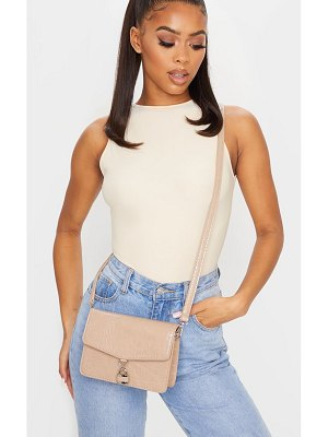 PrettyLittleThing croc lock cross body bag
