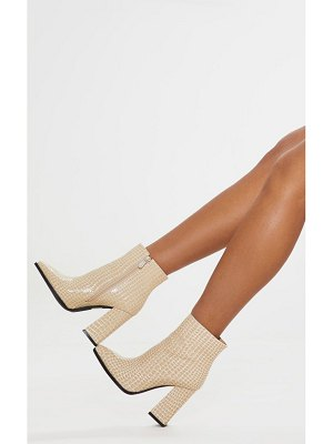 PrettyLittleThing croc point ankle boot