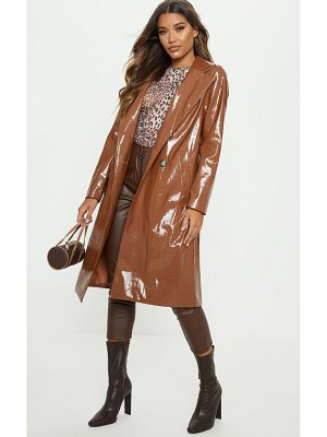 PrettyLittleThing croc pu trench