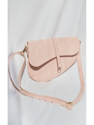 PrettyLittleThing croc saddle cross body bag